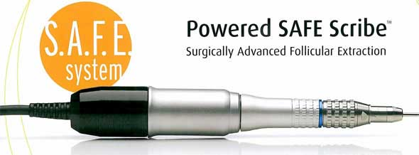 Power Scribe device used to do the hair follicle extraction work