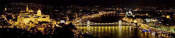 River Danube Budapest at Night