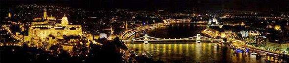 River Danube Budapest at Night
